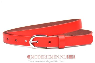 2cm smalle rode riem - riem rood ro201