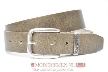 4cm zand jeans riem - jeans riem Unleaded sand U401338/02/04