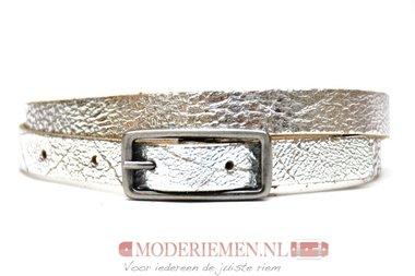 1,5cm kinderriem zilver Take-it kzilver435tb