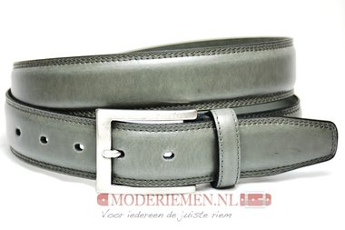 3,5cm grijze riem -  pantalon riem grijs gr510tb