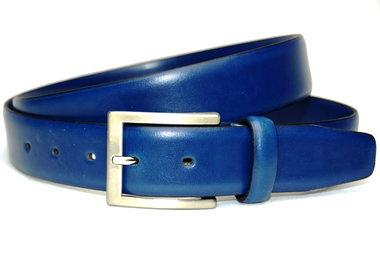 3,5cm kobalt blauwe pantalon riem - blauwe riem Timbelt bl506tb
