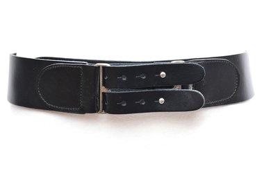 6 cm brede dames riem zwart 028