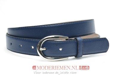 3cm blauwe riem - jeans/pantalon riem blauw bl300am