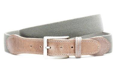 3,5cm grijze elastische riem gr350elasTB