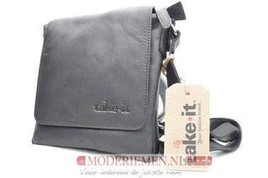 Zwarte schoudertas - Take-it - Small