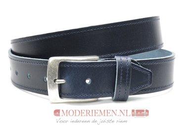 4cm blauwe riem - jeans riem blauw volnerf leder Timbelt bl622-1TB
