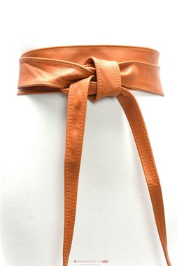6 cm brede dames riem cognac Unleaded