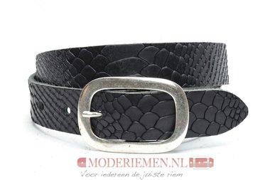 3cm kinderriem zwart met snake print Timbelt kzw213tb