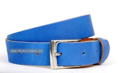 3cm kinderriem blauw kbl307
