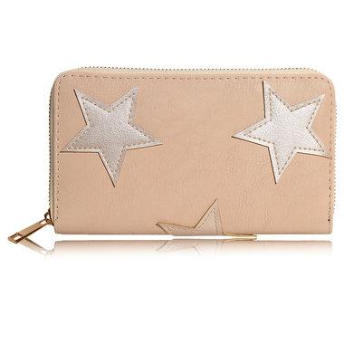 Portemonnee met sterren taupe
