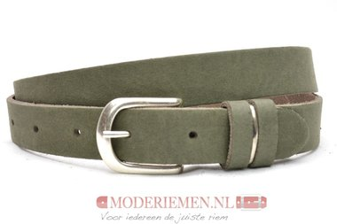 2,5 cm jeans riem army green Unleaded U25386
