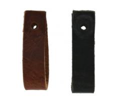 Leren handgreep Small 1,5 cm breed zwart  HG111 zwart