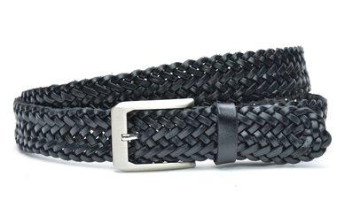 4 cm gevlochten zwarte riem 400