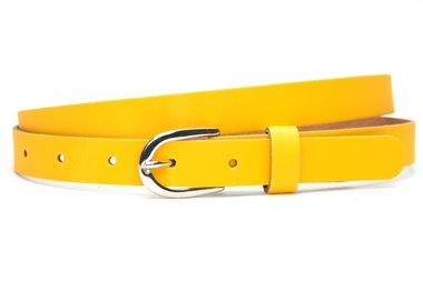 2cm kinderriem geel kge201