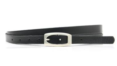1,5 cm smalle riem zwart 151