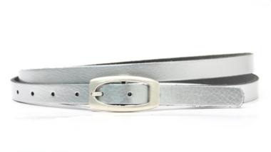 1,5cm smalle zilveren riem - dames riem zilver zi151