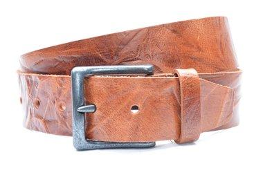 4,5cm cognac riem - jeans riem cognac volnerf leder Timbelt co418TB
