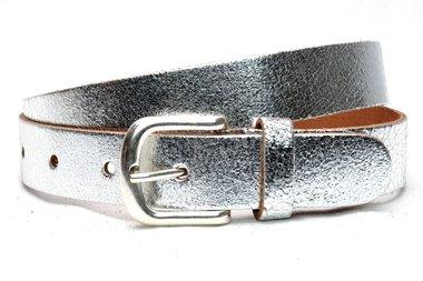3 cm zilveren riem U30877