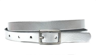 2cm smalle dames riem zilver zi203