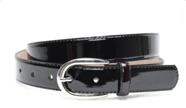 3cm zwarte lakriem - zwarte damesriem in lakleder zwlak300am