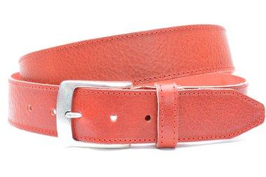 4cm rode riem - jeans riem rood volnerf leder Timbelt ro622-1TB