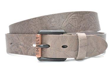 4cm grijze jeans riem - vintage riem grijs Timbelt gr489