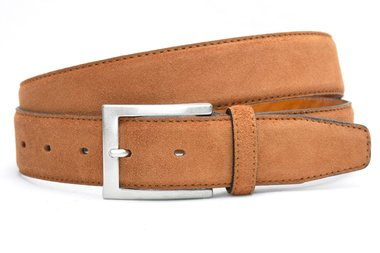 3,5cm pantalon riem cognac suède van het merk Timbelt cos508tb