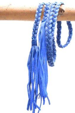 gevlochten riem kobalt blauw 0381
