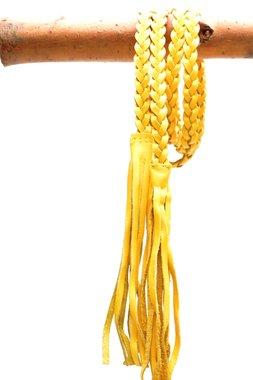 gevlochten riem geel 0381