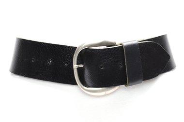 6cm brede dames riem zwart zw604