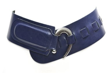 8cm brede dames riem blauw 8100