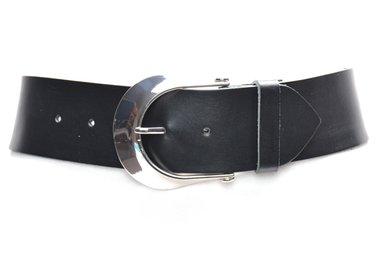6cm brede dames riem zwart 605