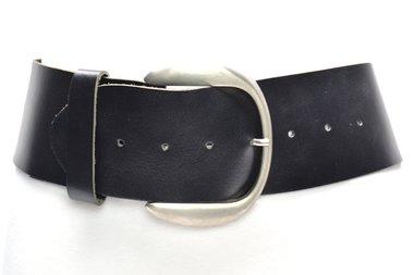 8 cm brede dames riem zwart 804