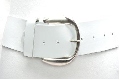 8 cm brede dames riem wit 804