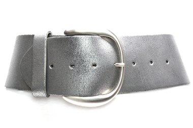 8 cm brede dames riem zilver 804