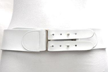 6 cm brede dames riem wit 028