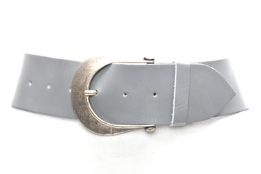 6 cm brede dames riem grijs 610
