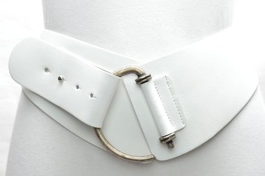 8 cm brede dames riem wit 8120