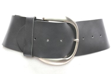 8 cm brede dames riem grijs 804