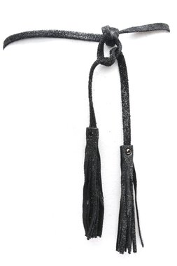 Knoop riem zwart 0377