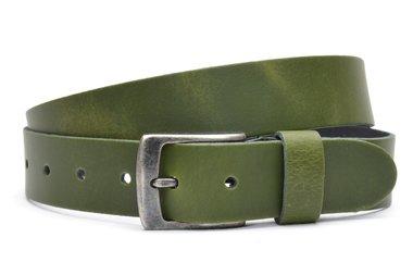 3,5 cm jeans riem groen 63547