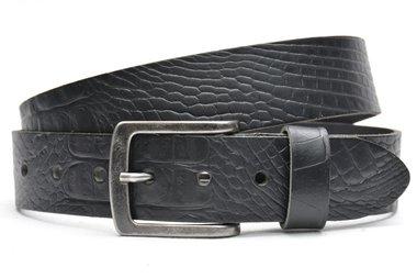 4 cm zwarte jeans riem 64062