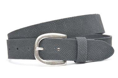 3,5 cm grijze riem 35373