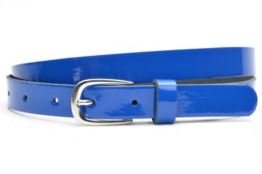 2 cm blauwe lakriem 20915