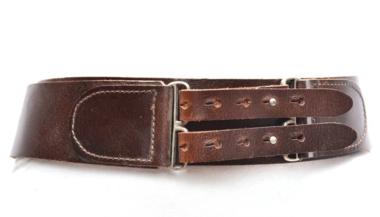 6 cm brede dames riem bruin 028