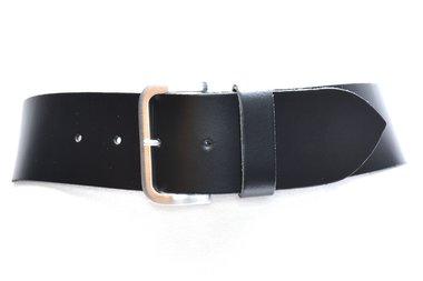 6 cm brede dames riem zwart 60678