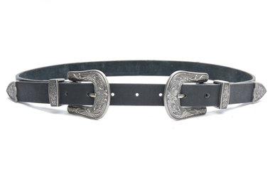 2,5 cm zwarte dames riem 9356