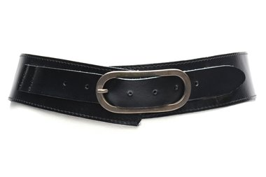 5 cm brede dames riem zwart 5001