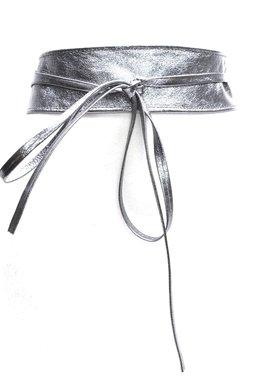 8 cm brede knoopriem zilver U80205