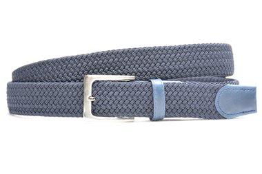 3,5 cm blauwe elastische riem 63007